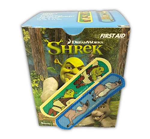 Shrek 100CT Sterile Adhesive Children's Bandages from DreamWorks, 3/4x3