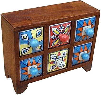 Bambus Discount Com Apothekerskast Keuken Met Kleurrijke Karamische Vakken Apothekerskast Keuken Kruidenkast Schuifladen Amazon Nl