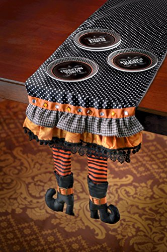 Grasslands Road Wicked Witch Legs Table Runner 469432 (Ruffled Table Runner)