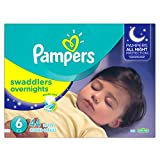 Pampers Swaddlers Overnites Diapers Size 6, 44 Count