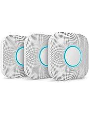 Nest Bescherm Rook & Koolmonoxide Alarm, Batterij (2e Generatie), 3 Pack