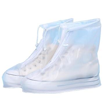 ecc368838699f HP95 Women Men Slip Resistant Rain Snow Shoes Reusable Waterproof Boots  Covers (US:10-10.5,...