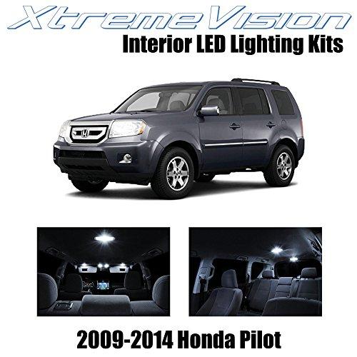 (XtremeVision Interior LED for Honda Pilot 2009-2014 (16 Pieces) Pure White Interior LED Kit + Installation Tool)