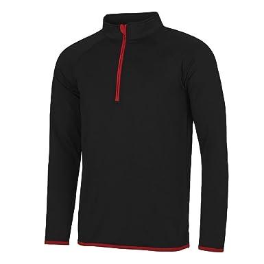 9b926f4af2d9 Just Cool 1 2 Zip Herren Funktions-Sweatshirt  Amazon.de  Bekleidung