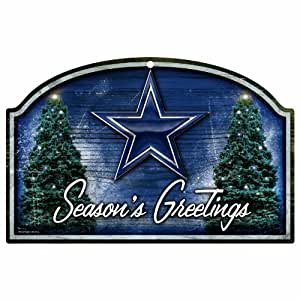 NFL Dallas Cowboys 11-by-17 Wood Sign Season's Greetings