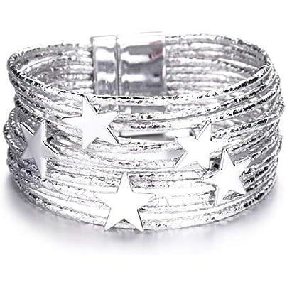 ZUOZUO Leather Wristband Leather Bracelet Ladies Bracelet Charm Gold Bracelet Crystal Ladies Jewelry Estimated Price £18.99 -