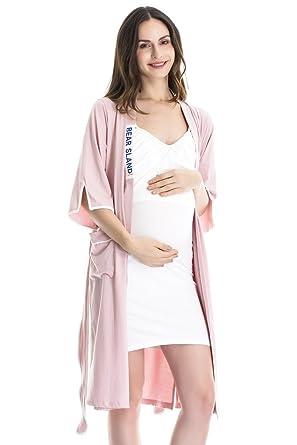 bede3ad7ec7 Bearsland Women's Maternity Nursing PJS For Breastfeeding and Breastfeeding  Pajama 2pcs Set