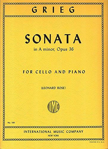Read Online GRIEG - Sonata Op.36 en La menor para Violoncello y Piano (Rose) PDF