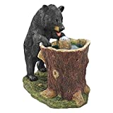 Cheap Water Fountain with LED Light – Guzzling Gulp Black Bear Garden Decor Fountain – Outdoor Water Feature
