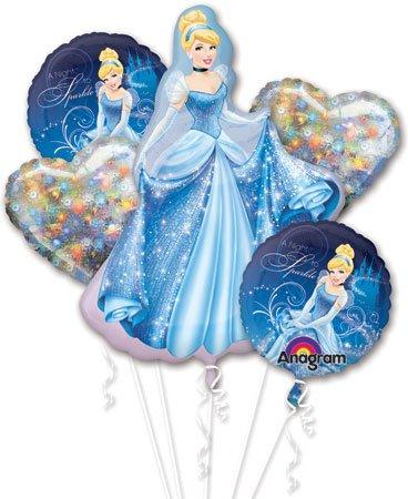 Cinderella Balloon Bouquet - Cinderella Balloons - 5 Count]()