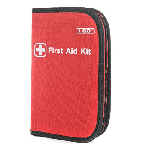 I Go A1FA01 Durable First Aid Kit , Ideal for the Car, Kitchen, School, Camping, Hiking, Travel Emergency & Survival