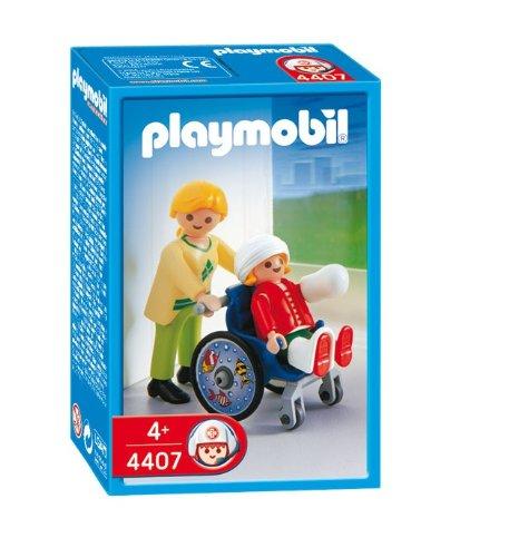 Playmobil 626599 - Hospital Silla De Ruedas+Niño: Amazon.es: Juguetes y juegos
