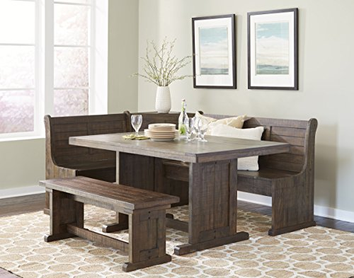 Sunny Designs Homestead Breakfast Nook with Side Bench (Table Breakfast Bench)