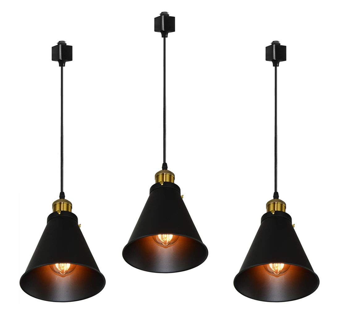 Kiven H-Type Track Lignting Pendant Antique Industrial Oil Rubbed Bronze Pendant Light 3 Pack,TB0132-B-80CM by Kiven (Image #2)