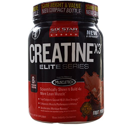 Muscletech, Six Star Pro Nutrition, Elite Series, CreatineX3, Fruit Punch, 2.53 lbs (1.15 kg) - 2pc