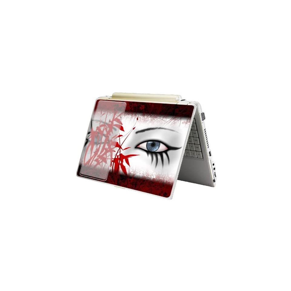 Bundle Monster MINI NETBOOK Laptop Notebook Skin Sticker Cover Art Decal   7 8 9 10   Fit HP Dell Asus Acer Eee Compaq MSI   Red Eye