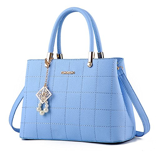 Bao Women's Handbags Shoulder Bags Pu Square Bags Fashionable Tide, Red Light Blue