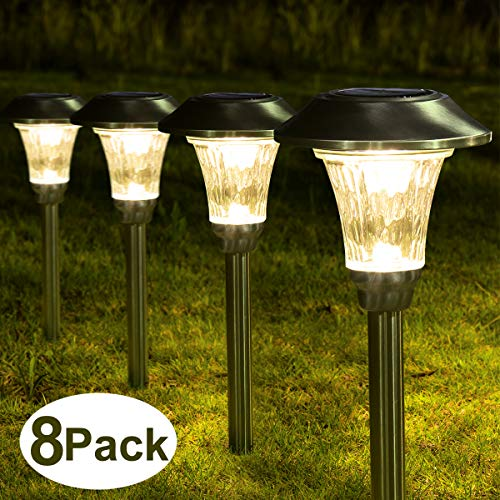 Outdoor Solar Lights Stainless Steel in US - 5