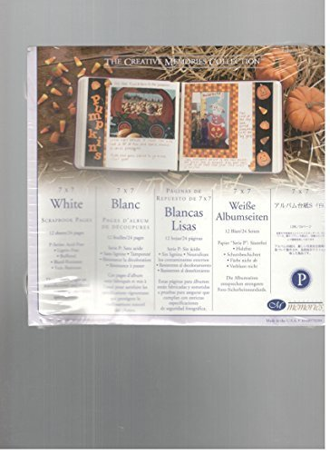 7 White Scrapbook Pages - 4