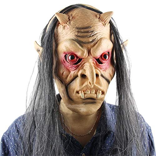 Halloween Horror Mask - 2017 Fashionable Design Halloween Horror Masks Scary Mask Toothy Zombie With Long Hair Devil Ghost - For Men