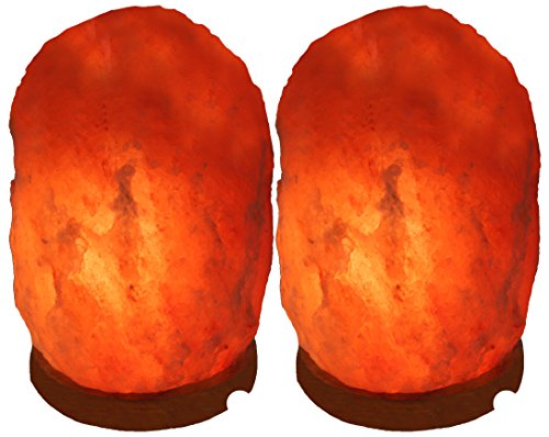 Indus Classic Set of 2 Himalayan Rock Crystal Salt Lamps, 7-10 lbs., 8 inch