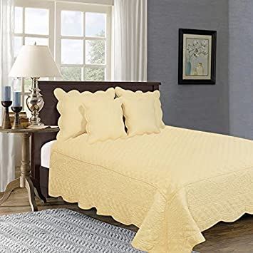 Amazon Com Tache Home Fashion Yellemdes Cal King 3 Piece Cotton