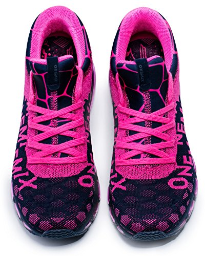 ONEMIX Gym Fitness Lightweight Sports Running Shoes for Men & Women Blue/Pink bp7gKusJA0