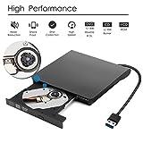 External CD DVD Drive, ALLOMN High-Speed USB 3.0 CD DVD-RW DVD ROM Drive, Ultra Slim DVD Burner Writer Rewriter for Laptop Desktop PC Windows XP/Vista/7/8/10 Mac OSX
