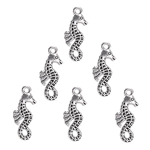 Tibetan Silver Seahorse Charms - Tibetan Silver Seahorse Charms Pendants Jewelry Making Accessories DIY Jewelry Findings and Supplies Wholesale 20Pcs