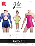 Jalie Carmen Seamless Sleeve Skating Dress Skirt Costume Sewing Pattern 3465