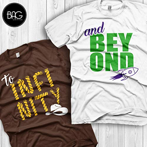 Disney couple shirt, To infinity and Beyond Shirts for couples, Perfect for Honeymoons and Walt Disney World vacation, Gift for his and her]()