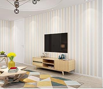Xinjing Einfache Moderne Senkrecht Gestreiften Schlafzimmer Tapete  Wohnzimmer TV Hintergrund Tapeten 3D   Festen Druck Aus