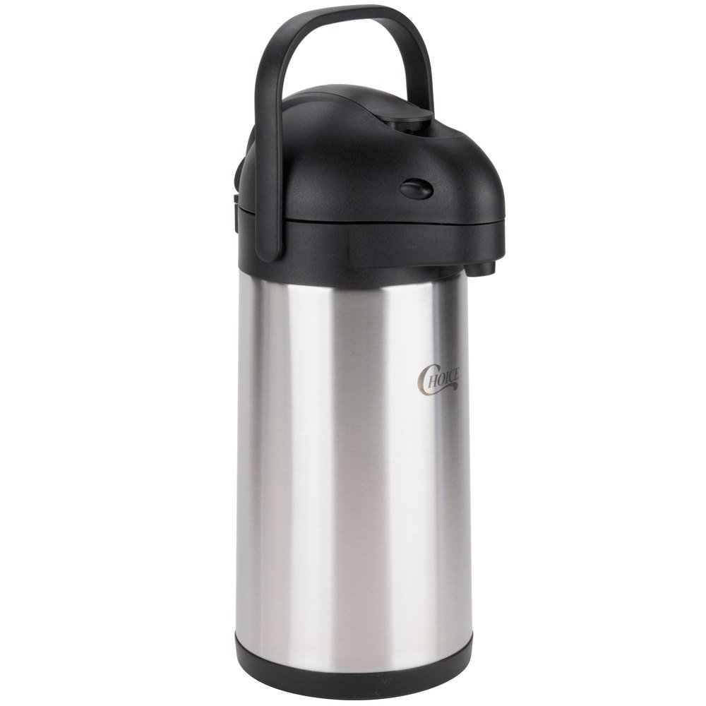 Choice 2.5 Liter Stainless Steel Lined Airpot with Lever by Choice