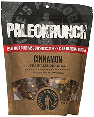 Paleokrunch Paleo Cereal Grainless Granola, Cinnamon, 7.5 oz by Steve's PaleoGoods