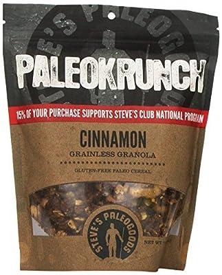 Paleokrunch Paleo Cereal Grainless Granola, Cinnamon, 7.5 oz by Steve's PaleoGoods