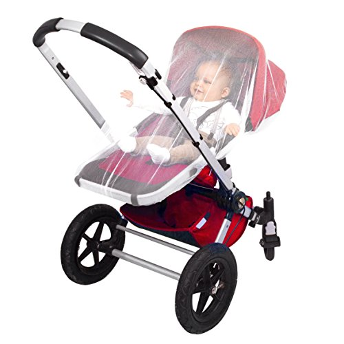EVEN Naturals MOSQUITO NET for Stroller, Baby Carrier, Carriage, Infant Car Seat, Gift, Soft Insect Shield Netting Accessories, Babies Fly Screen Protection, White Jogging Bug Net, Easy ()