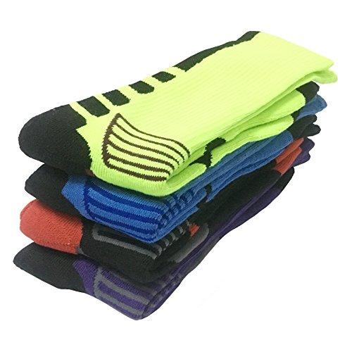 Fly-love 4 Dri-fit Hommes Pack Basket Coussiné Compression Athlétique Longues Chaussettes De Sport De Plein Air Robe