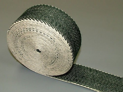 Pandoras Upholstery 33 m Roll Black and White Webbing Supplies, Black by