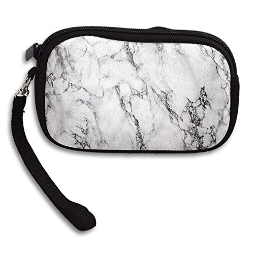 Marble Texture Women's Cell Phone Pouch Handbag Purse With Wrist Strap