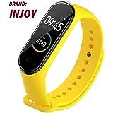 injoy Sports Soft Silicone Replacement Wristband Wrist Strap for Xiaomi Mi Band 4 yellow