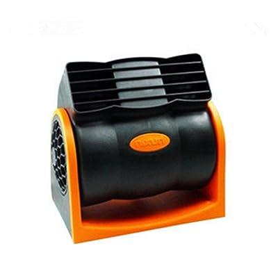 24V Camiones Furgonetas Ventiladores Eléctricos, De 90 Grados De Rotación, Orange Auto Enfriador Para El Verano Caliente