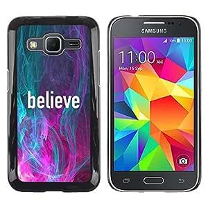 Paccase / SLIM PC / Aliminium Casa Carcasa Funda Case Cover para - Teal Pink Slogan Text Motivational - Samsung Galaxy Core Prime SM-G360