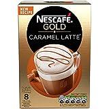NESCAFÉ Gold Latte Caramel, 8 sachets, 136g (Pack of 6, Total 48 sachets)