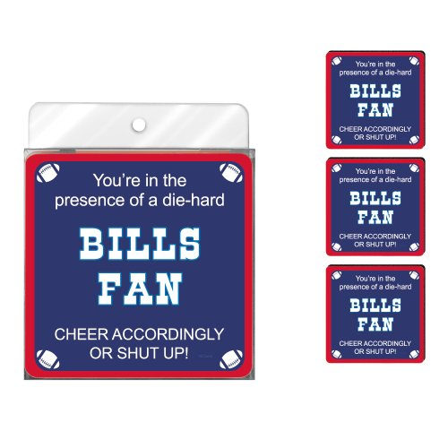 - Tree-Free Greetings NC38110 Bills Football Fan 4-Pack Artful Coaster Set