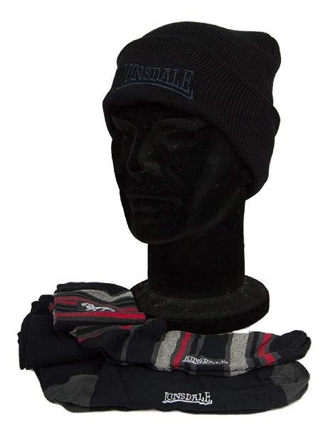 Lonsdale Set de regalo gorro sombrero + 2 pares de calcetines largos hombre  artÃculo LNSG0001  Amazon.es  Ropa y accesorios 6db5fb50090
