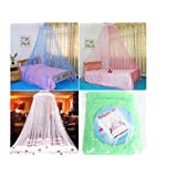Dshop Bed Canopy Mosquito Net - Mosquito Net | Double Bed Conical Curtains | Fly Screen Netting | Insect Malaria Zika Repellent | Money-back Guarantee | Home & Travel (Blue)