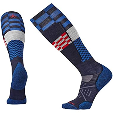 Smartwool Men's PhD Ski Light Elite Pattern Socks (Navy) X-Large
