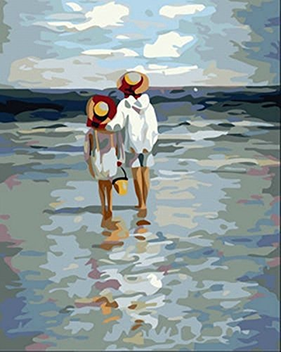 YXQSED [Wooden Frame] DIY Oil Painting Paint by Number Kit G101New-See to Sea 1216 Inch