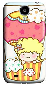 iCustomonline Cute Girl in Balloon Designs Case Cover for Samsung Galaxy S4 I9500 3D PC Material by runtopwell