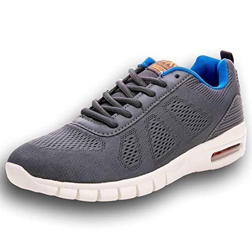 Ax Boxing Herren Sportschuhe Laufschuhe Sneaker Atmungsaktiv Leichte Wanderschuhe Trainers Schuhe A8095-grau